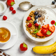 Healthy breakfast with coffee, yogurt, granola and berries - PhotoDune Item for Sale