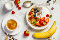 Healthy breakfast with coffee, yogurt, granola and berries - PhotoDune Item for Sale