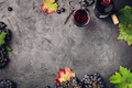 Wine composition on dark rustic background - PhotoDune Item for Sale