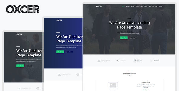 oxcer - responsive bootstrap 4 landing template (landing pages) Oxcer – Responsive Bootstrap 4 Landing Template (Landing Pages) 01 preview