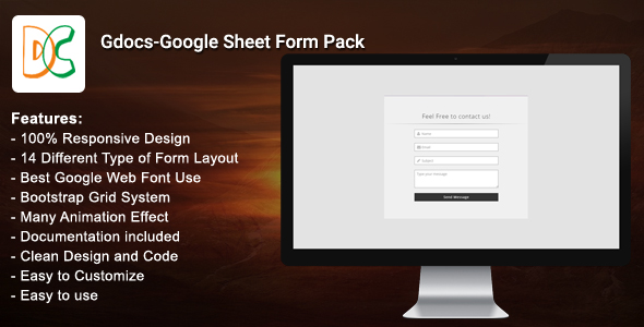 Gdocs - Google Sheet Form Pack
