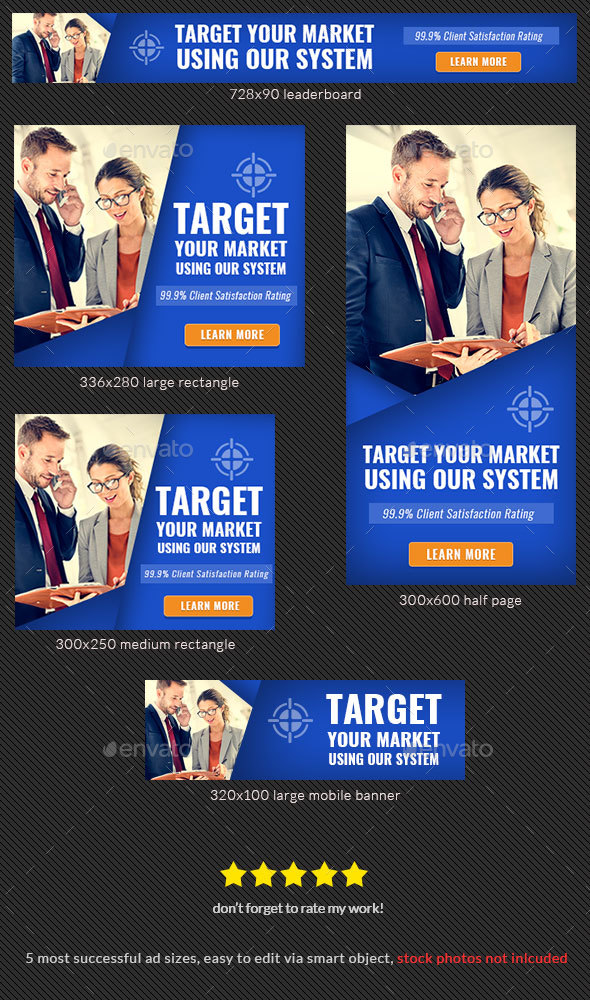 Corporate Banner Design Template 75 - Banners & Ads Web Elements
