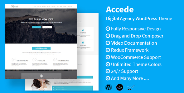 Accede - Digital Agency WordPress Theme - Technology WordPress