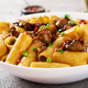 Vegetarian pasta  rigatoni with mushrooms and chilli peppers - PhotoDune Item for Sale