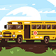Empty School Bus on Trip - GraphicRiver Item for Sale