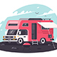 Motor Home on Rest - GraphicRiver Item for Sale