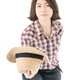 woman in a plaid shirt posing in studio on white-10 - PhotoDune Item for Sale