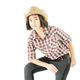 Young woman in a cowboy hat and plaid shirt-6 - PhotoDune Item for Sale