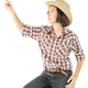 Young woman in a cowboy hat and plaid shirt-7 - PhotoDune Item for Sale