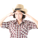 Young woman in a cowboy hat and plaid shirt-8 - PhotoDune Item for Sale