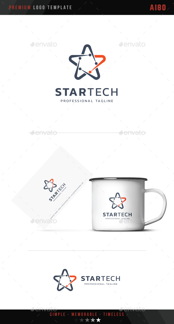 Star Tech Logo - Symbols Logo Templates