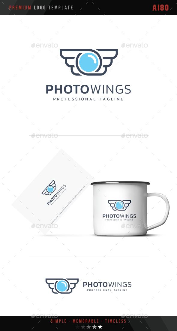 Photo Wings Logo - Symbols Logo Templates