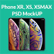 Phone XR XS XSMAX PSD MockUP - GraphicRiver Item for Sale