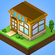 Low poly isometric shop
