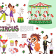Flat Circus Composition - GraphicRiver Item for Sale