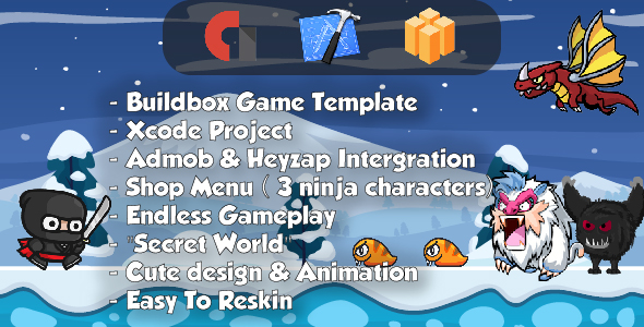 Ninja Adventure - Xcode & Builbdox Game Template            Nulled