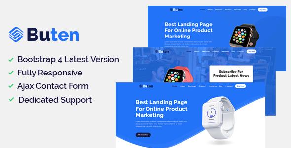 Buten - Product Landing Page - Marketing Corporate