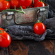 Cherry tomatoes in a metal box - PhotoDune Item for Sale