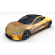 Tesla Roadster 2020 Yellow with interior and chassis - 3DOcean Item for Sale