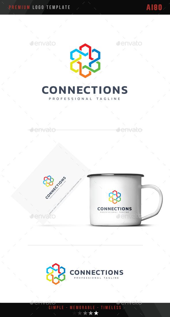 Connections Logo - Abstract Logo Templates