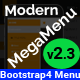 Modern Megamenu - Bootstrap 4 Responsive Mega Menu - CodeCanyon Item for Sale