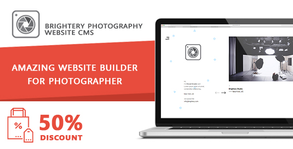 Brightery Photography website CMS Free Download | Nulled