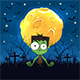 Zombie on Halloween Background with Moon - GraphicRiver Item for Sale
