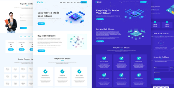 Kaniz - Bitcoin & Cryptocurrency HTML Template - Technology Site Templates