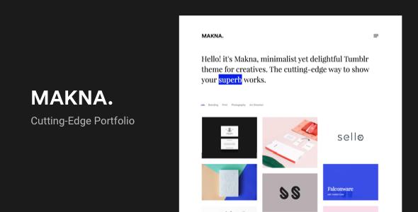 Makna   Minimalist and Delightful Portfolio Tumblr Theme - Portfolio Tumblr