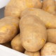 Fresh potatoes in wooden box, healthy nutrition concept - PhotoDune Item for Sale