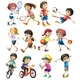 Children Doing Different Sports - GraphicRiver Item for Sale