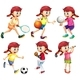 Girl Doing Different Type Of Sports