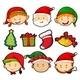 Christmas Theme With People And Ornaments - GraphicRiver Item for Sale