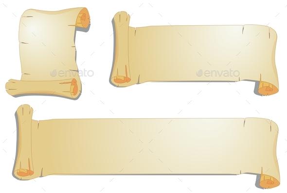 Scroll Papers - Decorative Vectors