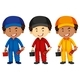 Plumbers Wearing Different Color Outfit