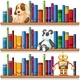 Toys And Books On The Shelves - GraphicRiver Item for Sale
