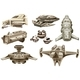 Different Designs of Spaceships - GraphicRiver Item for Sale