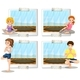People Doing Yoga In The Room - GraphicRiver Item for Sale