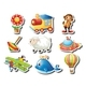Different Kind of Toy Stickers - GraphicRiver Item for Sale
