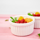Healthy breakfast on white bowls. Fresh granola, - PhotoDune Item for Sale