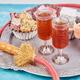 Set of various Turkish delight in bowl on metal tray near hookah tube - PhotoDune Item for Sale