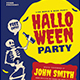 Old Retro Halloween Party Flyer - GraphicRiver Item for Sale