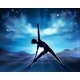 Yoga Pilates Woman Pose Silhouette Background