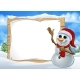 Snowman Christmas Cartoon Character Sign - GraphicRiver Item for Sale