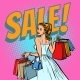 Bride Shopping Woman with Bags - GraphicRiver Item for Sale