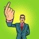 Man Index Finger Up