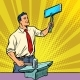 Businessman Blacksmith Forges Smartphone on Anvil - GraphicRiver Item for Sale