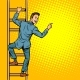 Businessman Climbs Stairs - GraphicRiver Item for Sale