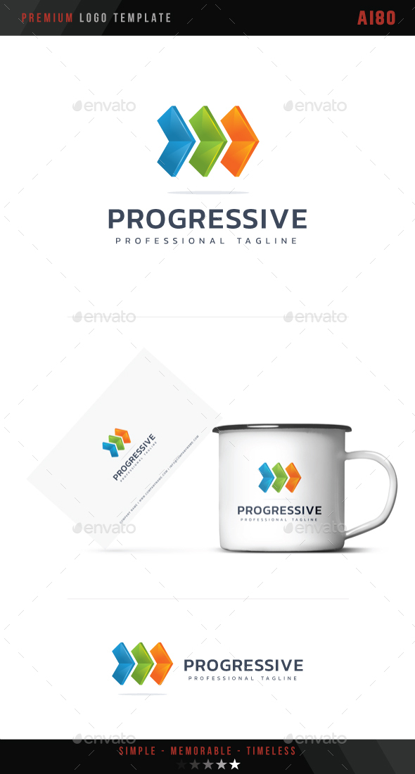 Progressive Logo - Abstract Logo Templates