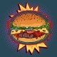 Hot Burger on Fire - GraphicRiver Item for Sale